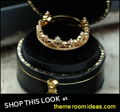 Diamond wedding band yellow gold crown ring bridal ring womens rings gold rings