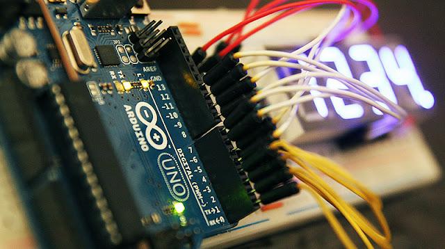 Afficheur 7 segments 4 digits + Arduino