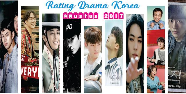 Rating Drama Korea Terbaru Agustus 2017 (Minggu Ke 1)