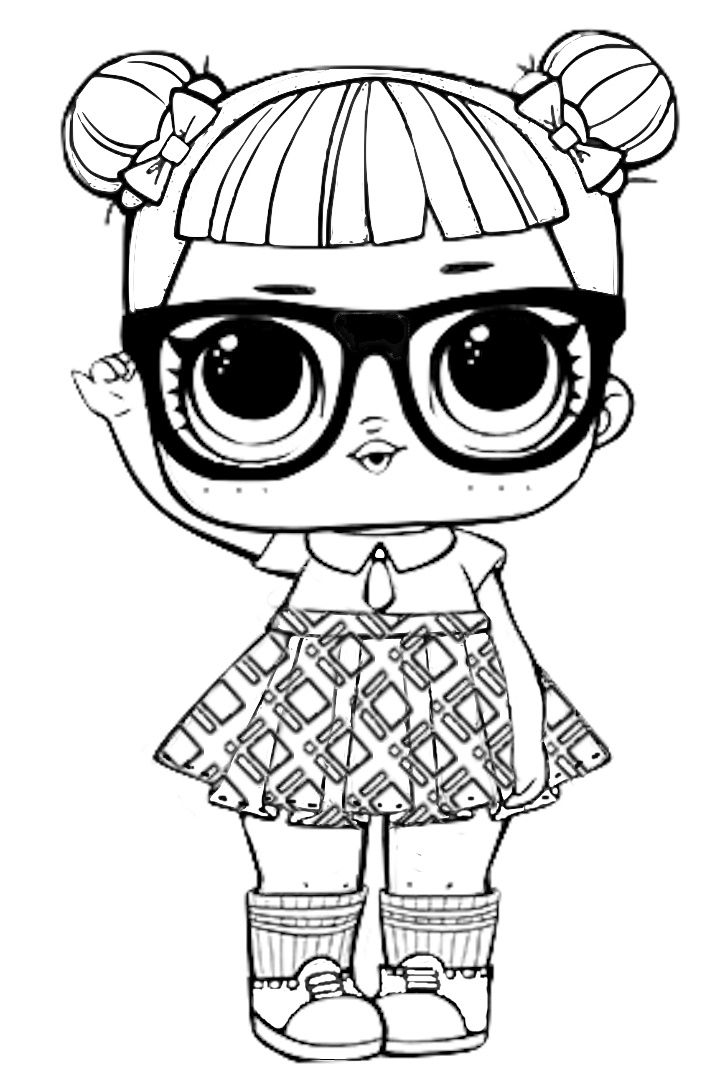 Coloring pages for kids free images: LOL Surprise free coloring ...