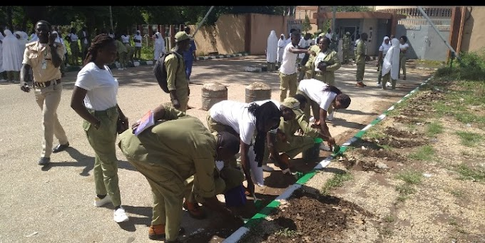 SERVICE AND HUMANITY! We Are Ready To Work Under The Sun Or In The Rain Says Bauchi Corpers