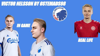 PES 2021 Faces Victor Nelsson by Ostemads98