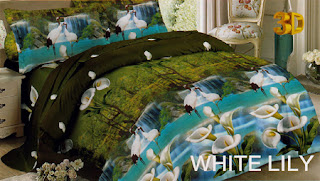 Sprei Red Rose White Lily