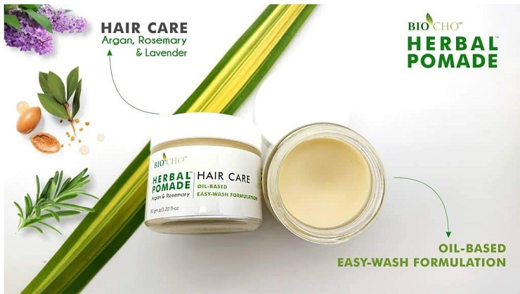 Pomade Herba untuk penjagaan rambut.