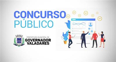 Prefeitura de Governador Valadares lança Edital de concurso