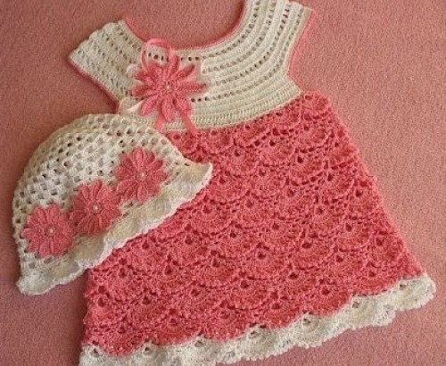 Pink Crochet Dress - Tutorial