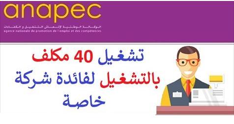 الوكالة الوطنية لإنعاش التشغيل والكفاءات: تشغيل 40 مكلف بالتشغيل لفائدة شركة خاصة