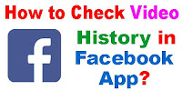 How to Check Video History in Facebook App?