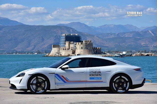 Η πρώτη ηλεκτρική PorscheTaycan στο Ναύπλιο