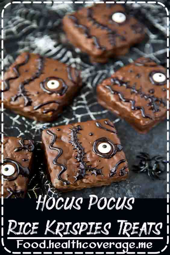 Spell Book Rice Krispies treats inspired by the Halloween movie Hocus Pocus.