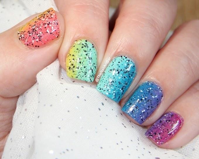 Rainbow gradient & glitter