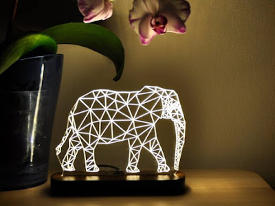 Elephant 3D Night Light: