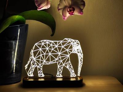Elephant 3D Night Light: