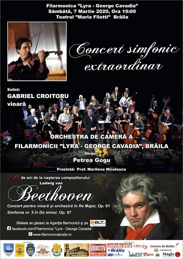"""SÂMBĂTĂ, 7 MARTIE 2020 ORA  19:00 TEATRUL """"MARIA FILOTTI"""" BRĂILA: Concert Simfonic Extraordinar, dedicat Zilei Internaționale a Femeii"""