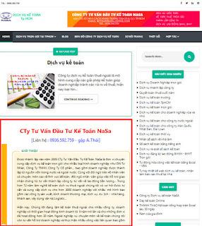 Template Sanai Web dịch vụ kế toán