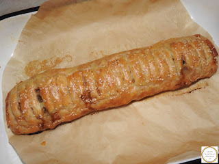 Rulada cu carne tocata in foietaj reteta,