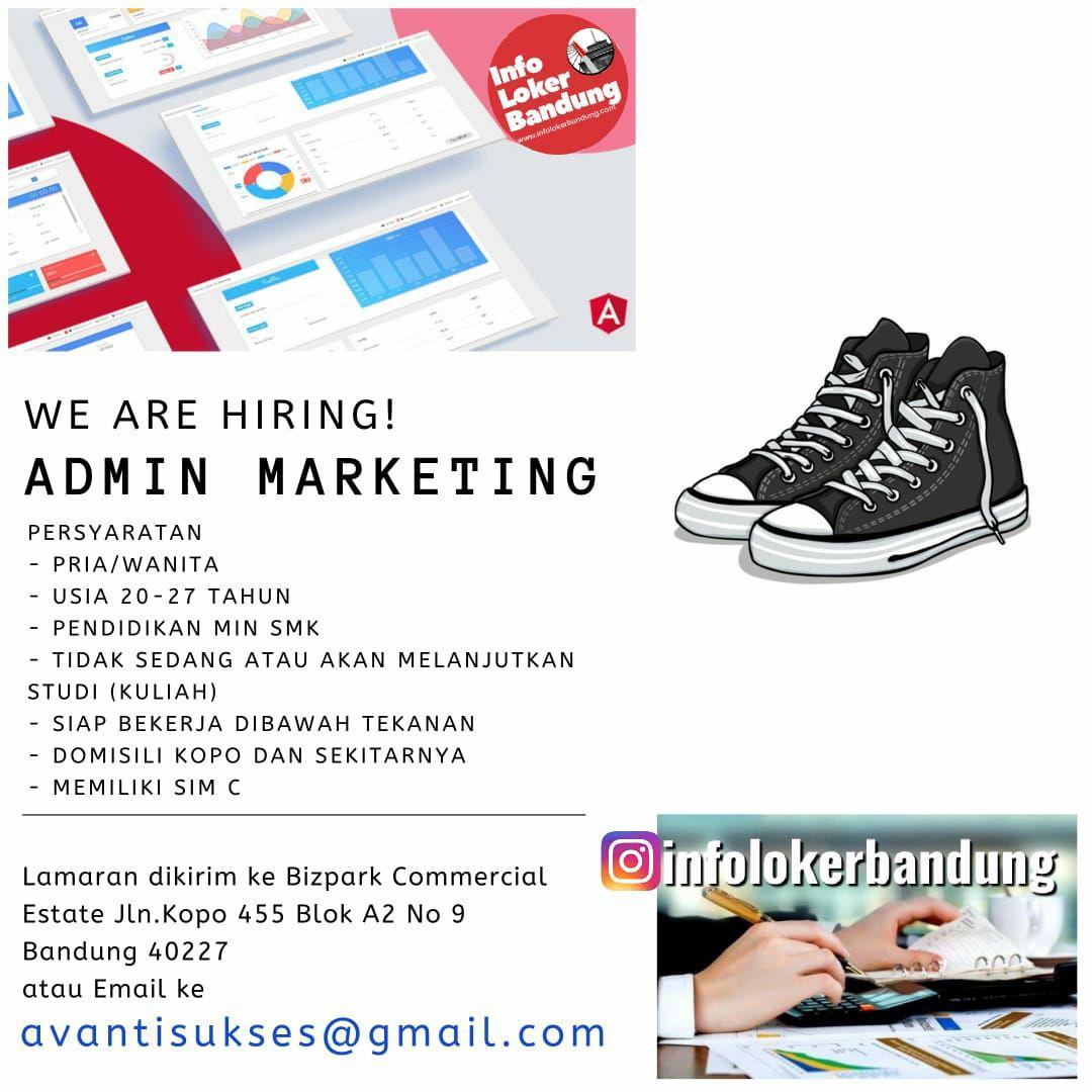 Lowongan Kerja Admin Marketing PT Avanti Ragam Sukses (ARS SOLE) Bandung Juli 2019