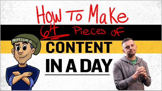 How to make 64 Pieces of content in a day by Garyvee - Summary and download