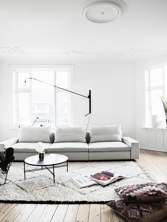 Casual scandinavian living room | Bo Bedre