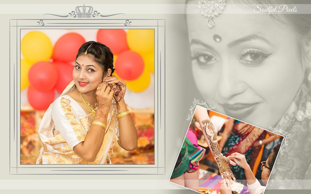 Page Layout Design Of A Wedding Album