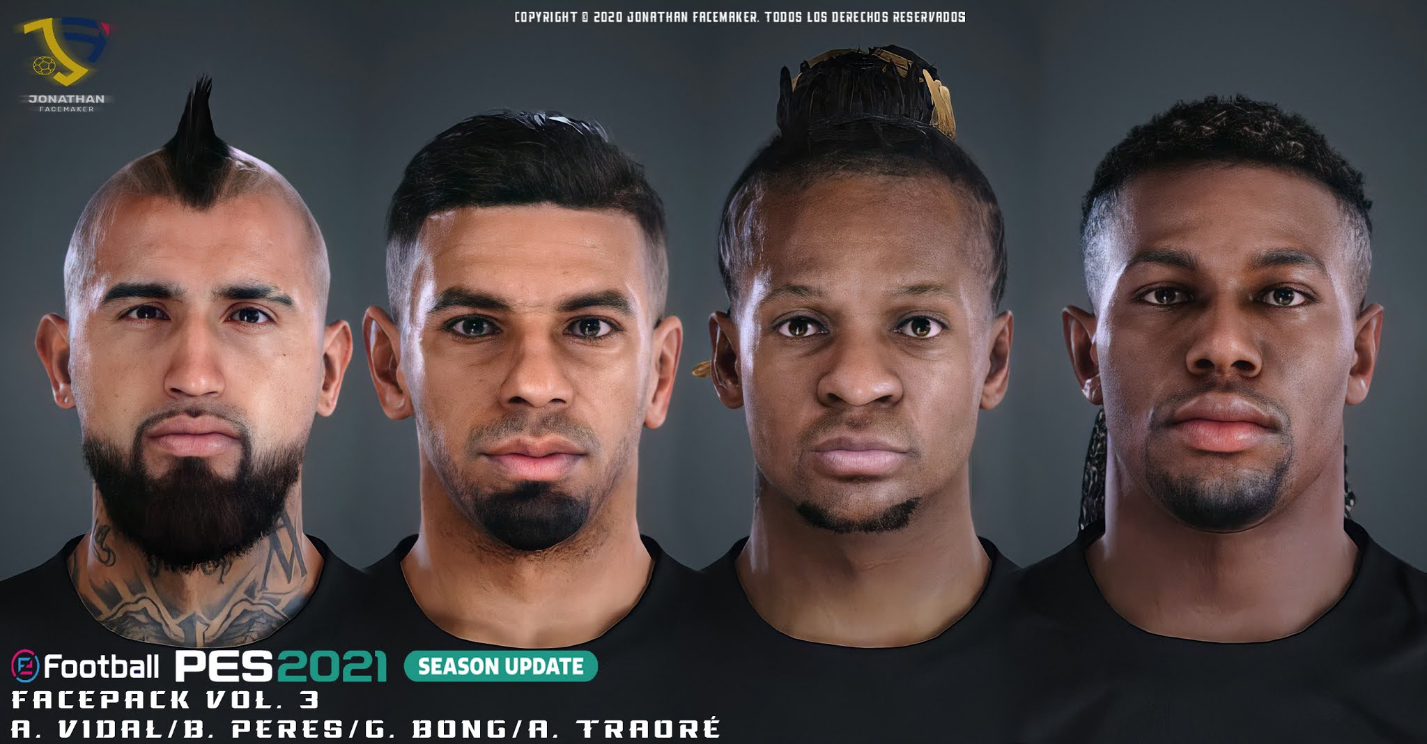 PES 2021 Facepack Vol. 3 by Jonathan Facemaker