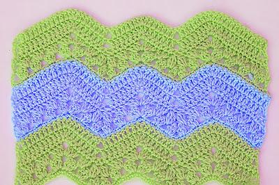 6 -  Crochet Imagen Puntada zig zag a crochet continuacion por Majovel Crochet