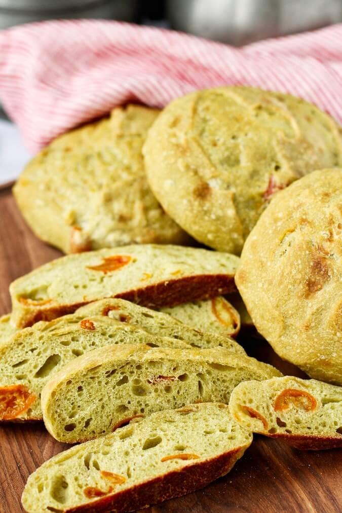 Green Tea and Candied Kumquat Bread
