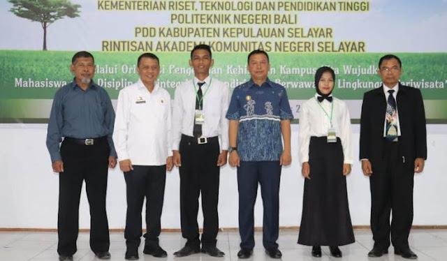 Bupati Buka Ospek Mahasiswa Baru Kampus, Politeknik Negeri Bali Di Selayar