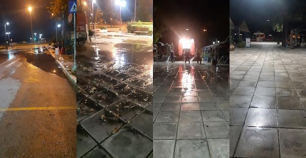 Στυλίδα: Καθαρισμός των πλατειών - Κεντρική Πλατεία και Πλατεία Εθνικής Αντίστασης