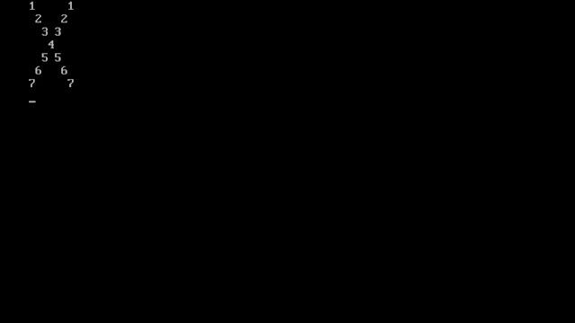 C program to print x number pattern