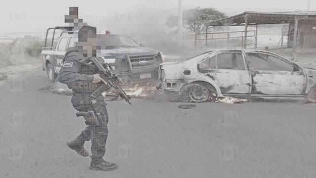 """Abaten a de sicario del """"Canada"""" y en venganza compañeros desatan furia de criminales y atacan bases policiales en Michoacan"""
