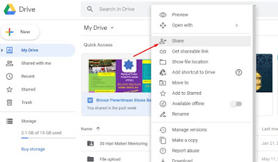 Cara Menyalin data google drive ke akun lainnya