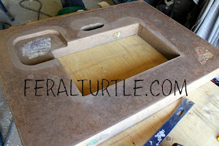 The Feral Turtle Concrete Vanity Top Complete