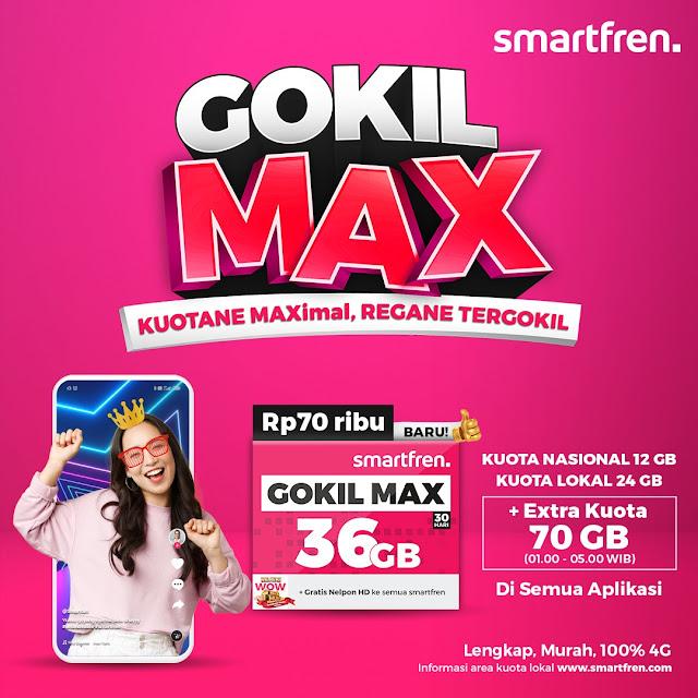 GOKIL MAX, Paket Terbaru dari Smartfren dengan Kuota Besar dan Harga Tergokil!