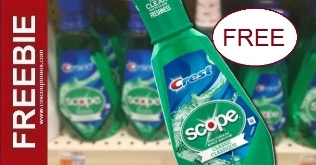 FREE Scope CVS Couponers Deal 9-19-9-25