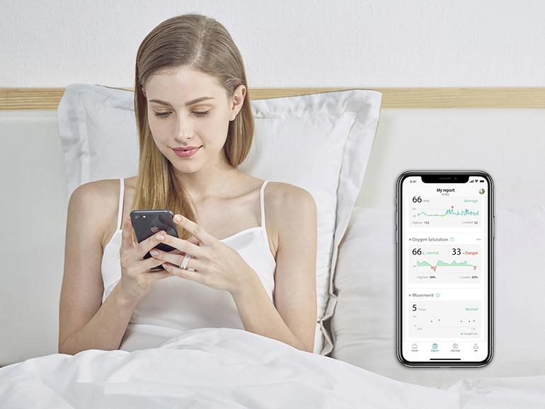 Go2Sleep-  tracker snu z pomiarem saturacji i tętna
