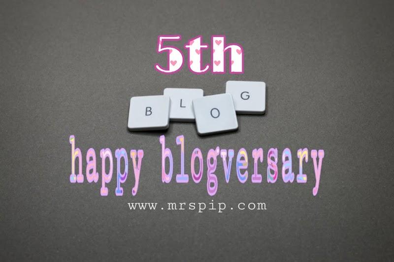 Happy 5th Blogversary