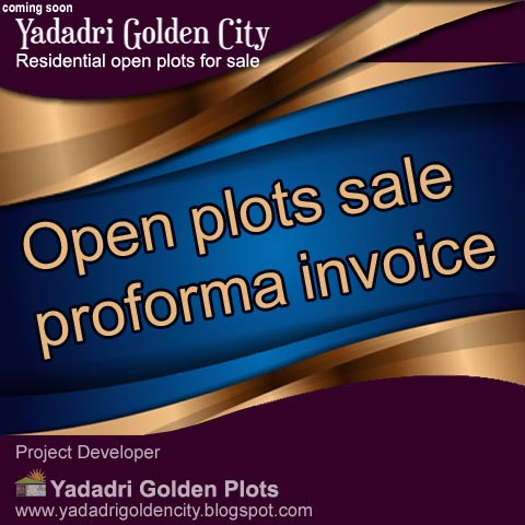 Open plots sale proforma invoice
