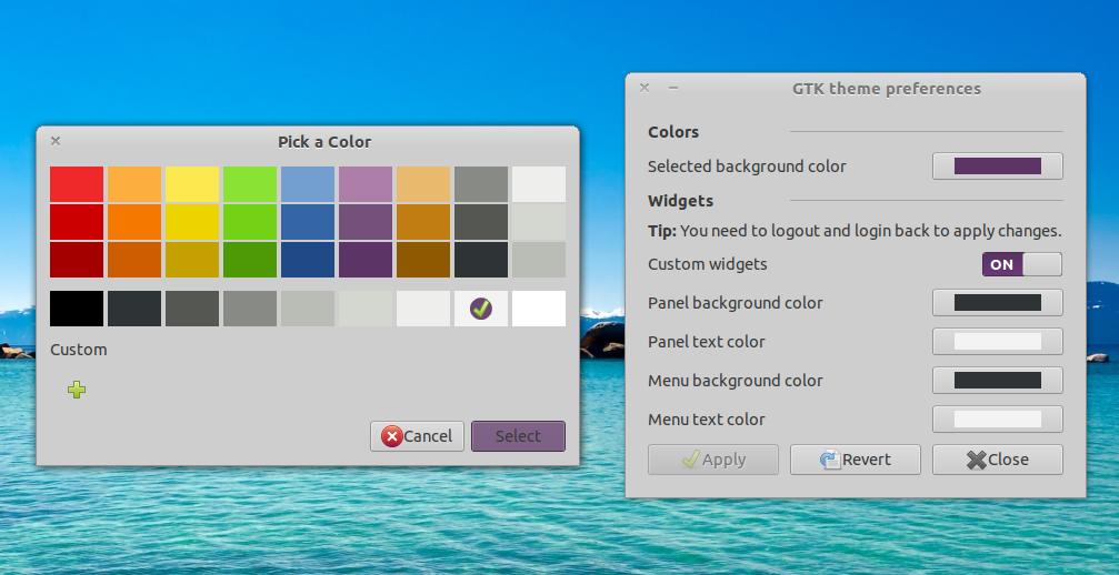 Customize GTK3 / GTK2 Theme Colors Using `GTK Theme