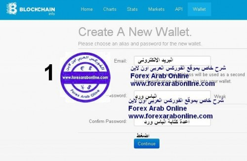 انشاء حساب bitcoin