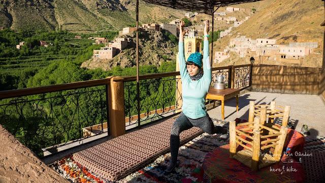 to toubkal peak atlas mountains balcony yoga