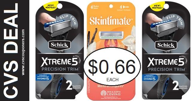 CVS Deals on Schick Disposable Razors 9-5-9-11