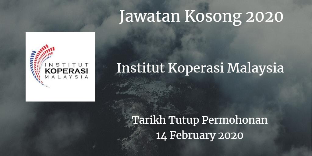 Jawatan Kosong IKMM 14 February 2020