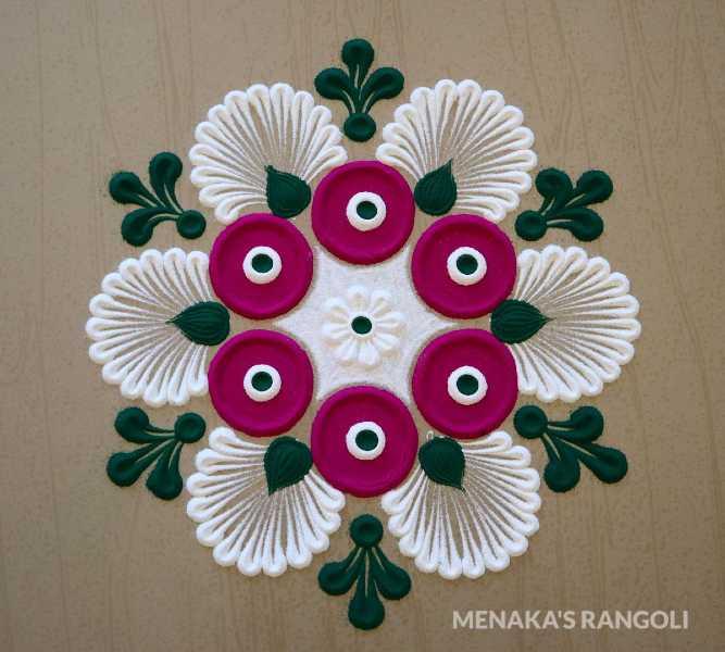 best flower rangoli design