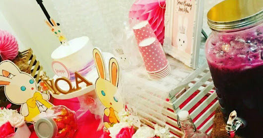 bunny theme candy buffet