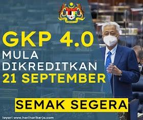 [TERKINI] GKP 4.0 Mula Dikreditkan Pada 21 September, Semak Status Anda