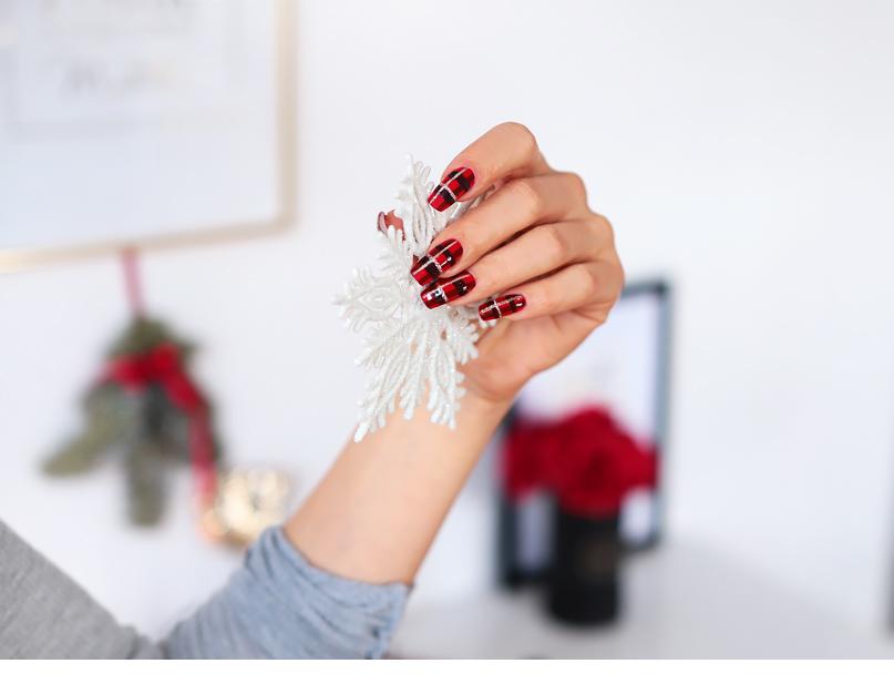 Alina Rose Blog Kosmetyczny świąteczne Paznokcie Czy ściągam żel