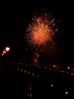ピサでの年越しの花火
