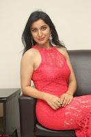 Sakshi Kakkar in Red Legsplit Sleeveless Gown at Dare movie Press meet ~  Exclusive 064.JPG