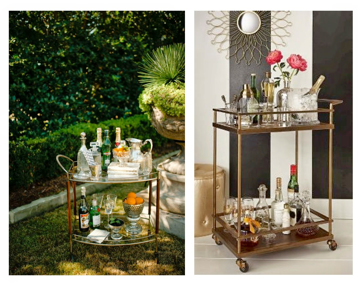 Don T Limit Your Bar Cart To Just Inside The House While Enjoying An Outside Party Set Up For Entertaining On A Beautiful Day